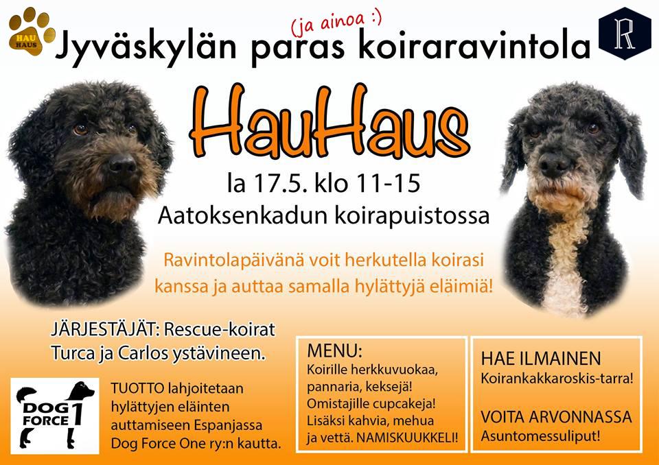Koiraravintola HauHausin juliste